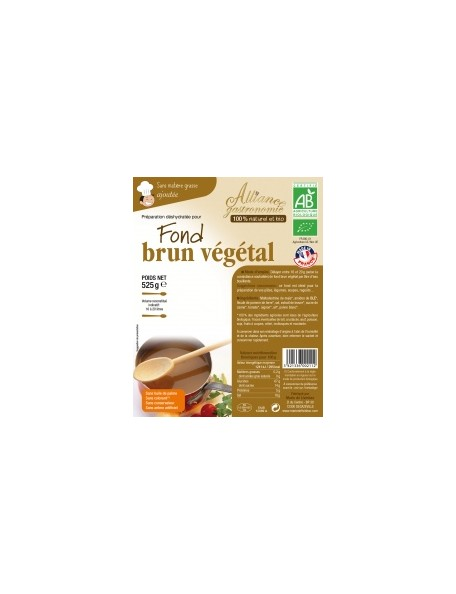 Fond Brun Végétal Format Familial