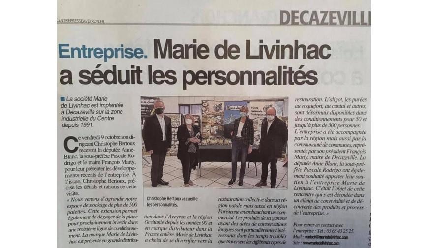 Marie de Livinhac séduit les personnalités
