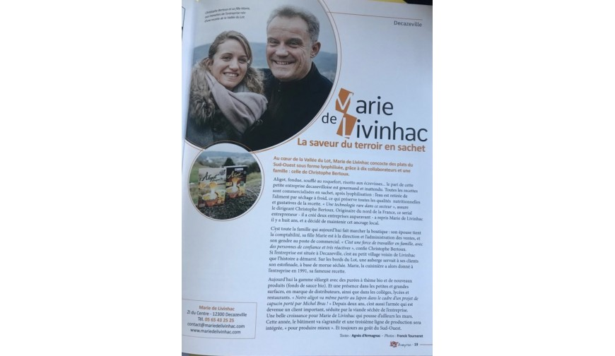 Article Presse Echo'Aveyron